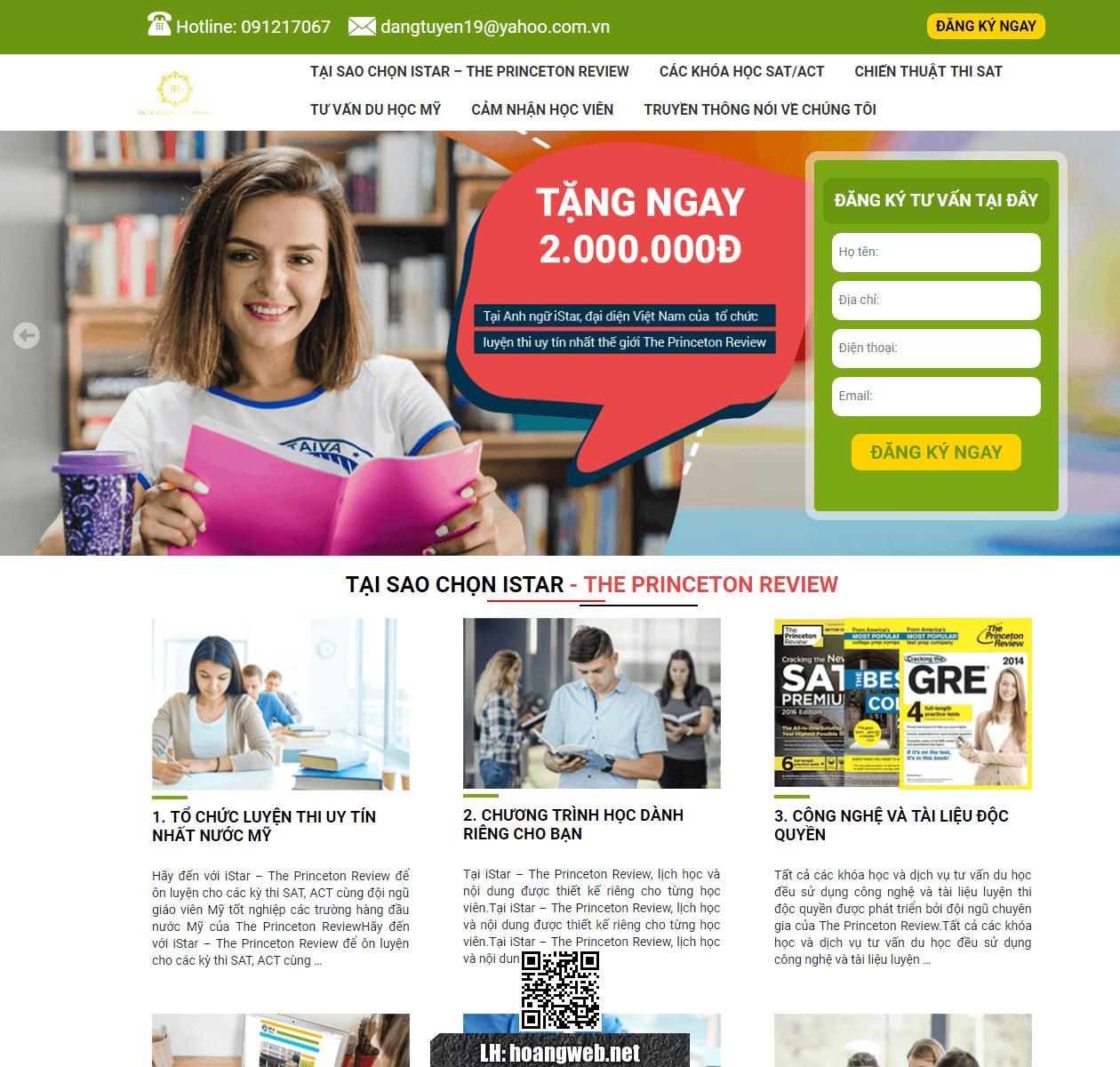 Web trung tâm anh ngữ thumbnail