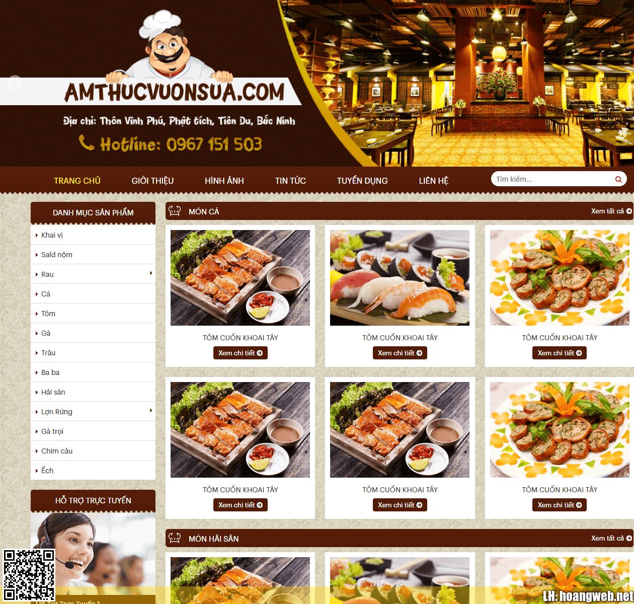 Mẫu web ẩm thực nhà hàng thumbnail